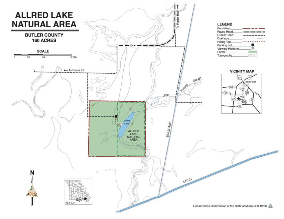 Allred Lake map