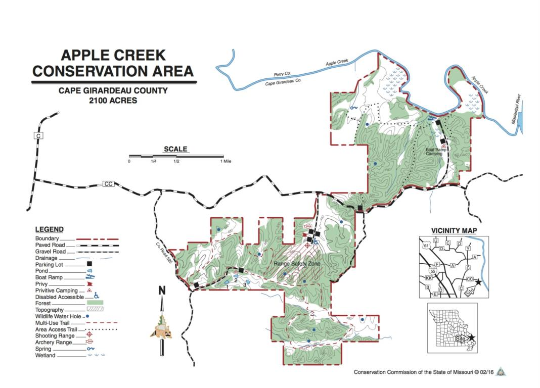 Apple Creek map