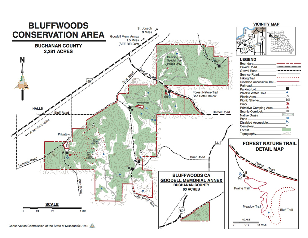 Bluffwoods CA Map