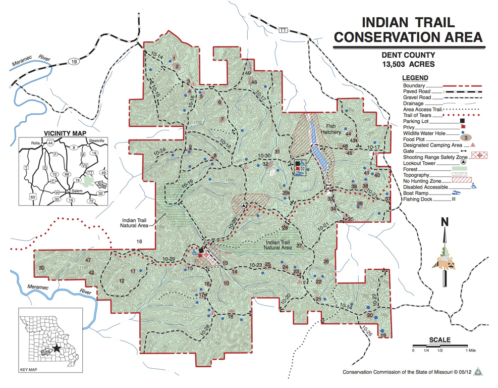 Indian Trail CA map