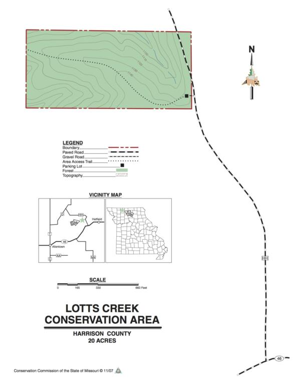 Lotts Creek map