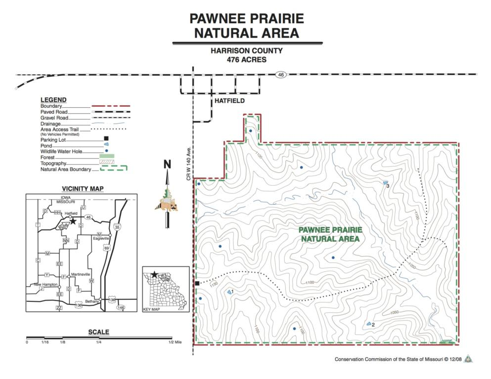 Pawnee Prairie map