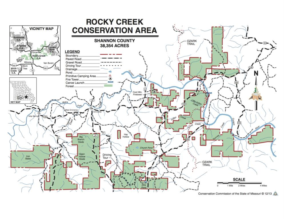 Rocky Creek map