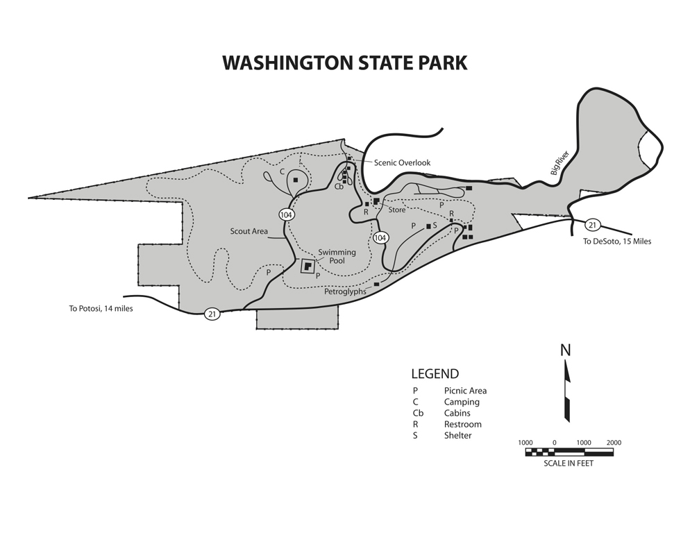 Washington SP map